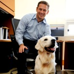 Jed Hoyer and Louie (British Cream Retreiver)