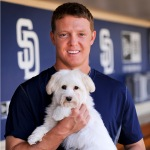 Nick Hundley and Ellie (Havanese)